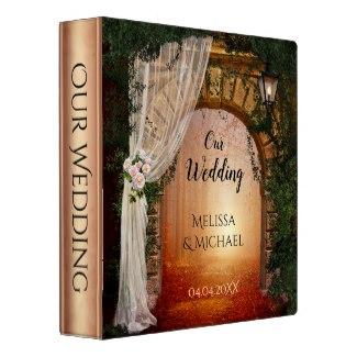 Enchanted Forest or Garden Rose Gold Wedding Binder