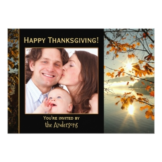 Your Photo Thanksgiving Dinner Party Invitation