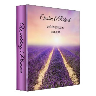 Romantic Country Lavender Field Wedding Planner Binder