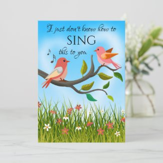 Funny Cute Love Birds Valentines Day Card