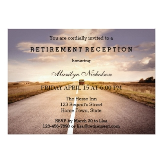 Hit the Road Travel Retirement Party Invitation