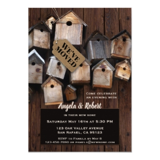 Home Sweet Home Bird Houses Housewarming Invitation