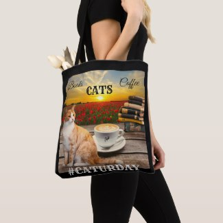 Crazy Cat Lady Colorful Tote Bag