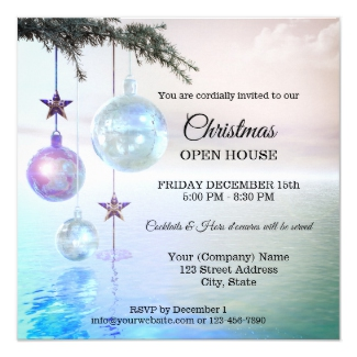 Magical Enchanted Christmas Party Open House Invitation