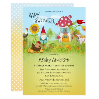 Magical Enchanted Garden Baby Shower Invitation