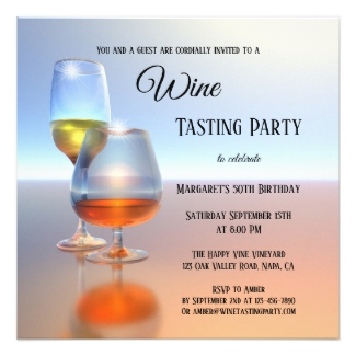 Modern Fine Art Wine Tasting Invitation