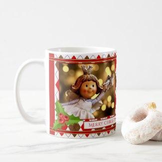 Personalized Photo Angel Christmas Mug