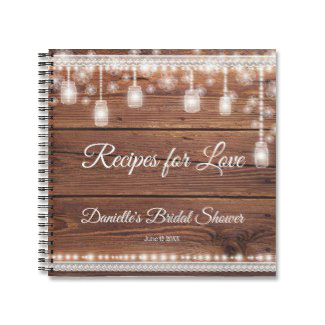 Recipes for Love Bridal Shower Recipe Notebook