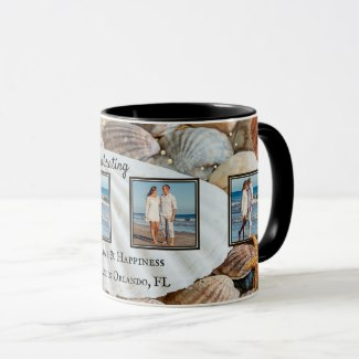 Personalized Beach Shells Keepsake Photo Mug
