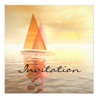 Artistic Sailing Celebration Invitation