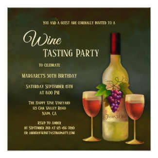 Stylish Fine Art Wine Tasting Invitation
