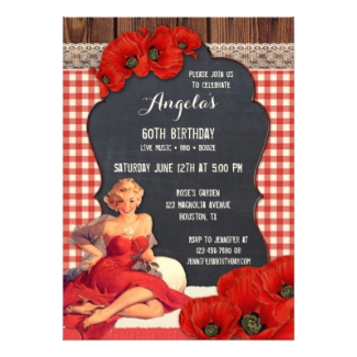 Summer BBQ Womens Birthday Party Invitation