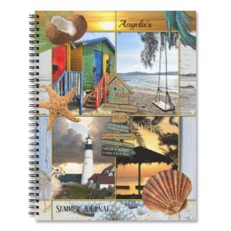Summer Beach Custom Photo Bullet Journal Notebook
