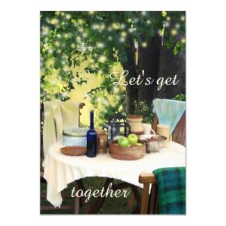 Summer Garden Family Reunion Invitation
