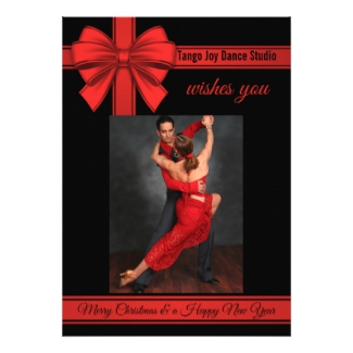 Christmas Tango New Year Dance Party Invitation