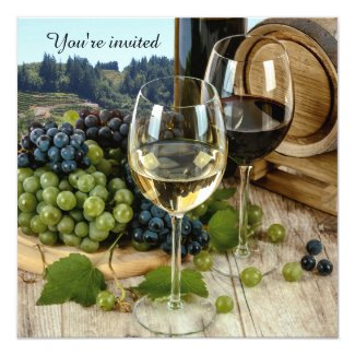 Vineyard Wine Tasting Party Invitation