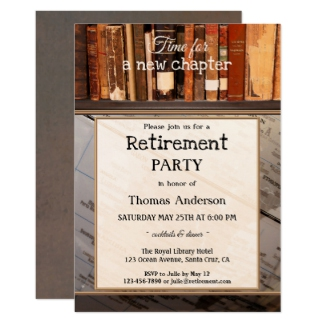 Vintage Books Library Retirement Party Invitation