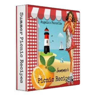 Vintage Summer Beach Recipe Binder
