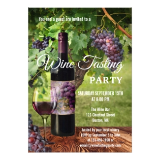 Winery Wine Tasting Event Invitation