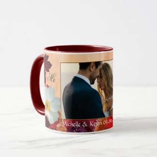 Your Photo Artistic Floral Romantic Mug