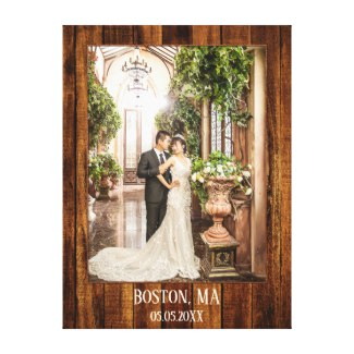 Your Wedding Photo on Wood Custom Print