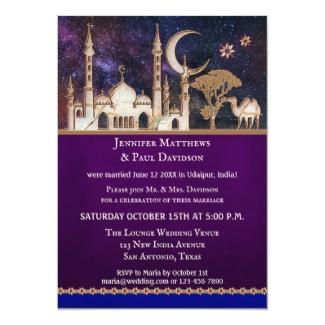 Arabian Nights Wedding Reception Only Invitation
