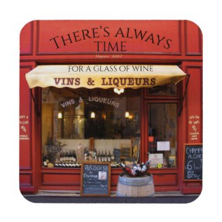 Classic French Liqueur and Wine Shop Coasters