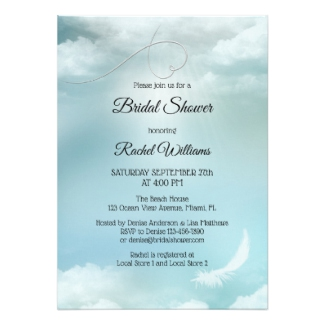 Dream Cloud Silver Lining Bridal Shower Invitation