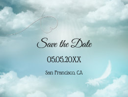 Dream Cloud Silver Linging Save the Date Postcard