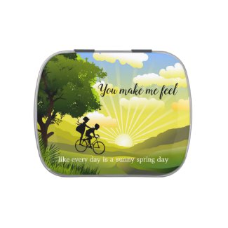 Breezy Spring Green Love Candy Tin