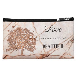 Love Life Tree Birds Cosmetic Bag