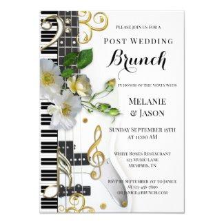 Music Roses Post Wedding Brunch Invitation