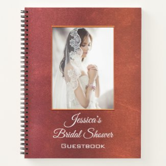 Your Photo Bridal Shower Guestbook Spiral Notebook