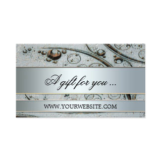 Artistic Silver Metallic Gift Certificate Template