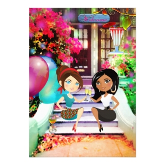 Festive Colorful Cartoon Housewarming Party Invitation