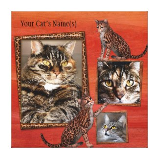 Personalized Cat Photo Wrapped Canvas Print