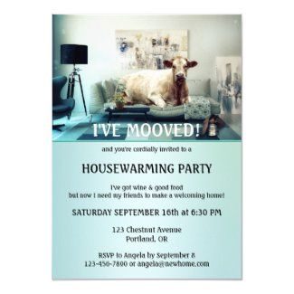 Silly Cow Home Sweet Home Housewarming Invitation
