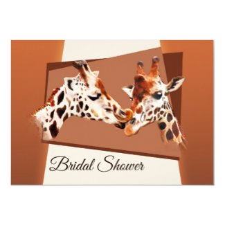Whimsical Giraffe Bridal Shower Invitation