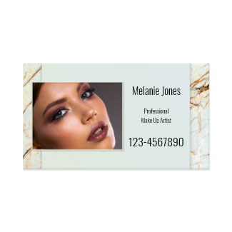 Custom Photo Marble Beauty Appointment Business Cards
