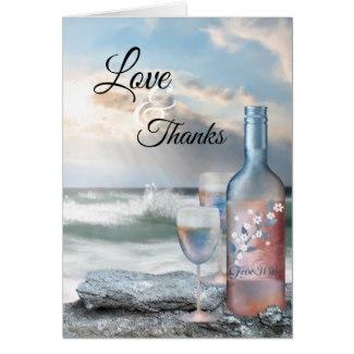 Beach and Wine Dream Wedding Thank You Card
