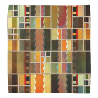 Colorful Leaded Glass Mosaic Bandana