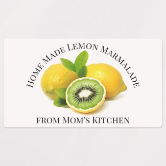 Home Made Lemon Marmalade Label