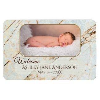 Large Marble Personalized Custom Photo Flexible Magnet