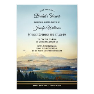 Mountain Landscape Art Bridal Shower Invitation