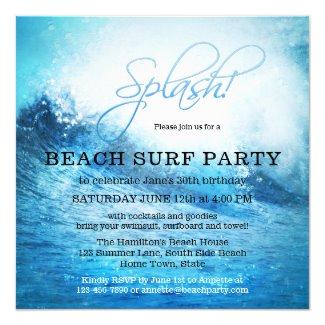 Ocean Beach Surf Summer Party Invitation