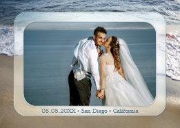 Photo Beach Wedding Thank You Card
