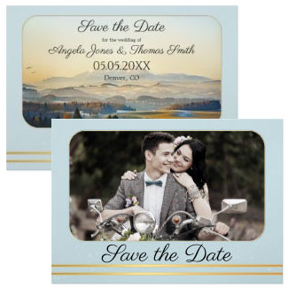 Your Photo Mountain Save The Date Card, Save the Date Cards