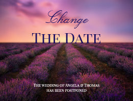 Change the Date Lavender Field Postcard
