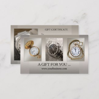 Silver Grey Your Photos Gift Card Template