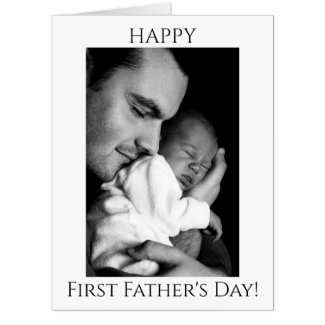 Jumbo Happy First Father's Day Photo Card